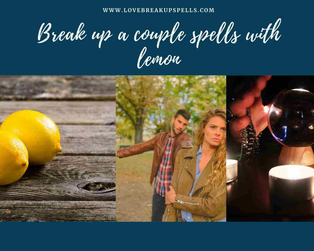 Break up a couple spells with lemon